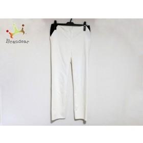 アルマーニコレッツォーニ ARMANICOLLEZIONI パンツ サイズ40 M レディース アイボリー×黒 新着 20190903
