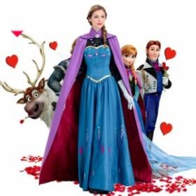 実物撮影!コスプレ衣装/ディズニー Frozen アナと雪の女王/エルサドレス/戴冠式Elsaドレス//イベント/コスチューム/ハロウィン/cosplay