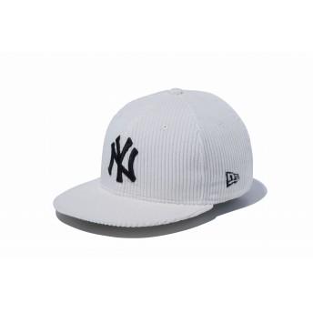 NEW ERA ニューエラ キッズ 9FIFTY コーデュロイ ニューヨーク・ヤンキース オフホワイト × ブラック スナップバックキャップ アジャスタブル サイズ調整可能 ベースボールキャップ キャップ 帽子 男の子 女の子 52 - 55.8cm 12108311 NEWERA