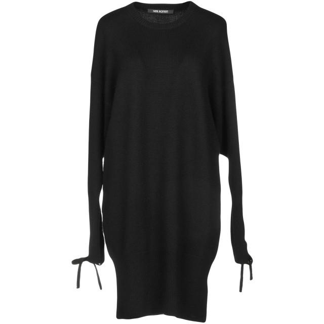 《セール開催中》NEIL BARRETT レディース ミニワンピース&ドレス ブラック XXS 100% ウール