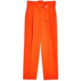 《期間限定セール開催中!》TOPSHOP レディース パンツ オレンジ 6 ポリエステル 100% RED BELT TAPERED TROUSERS
