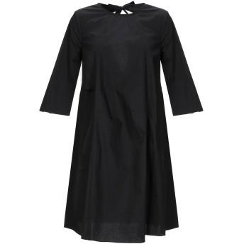 《セール開催中》SOALLURE レディース ミニワンピース&ドレス ブラック 38 コットン 97% / ポリウレタン 3%