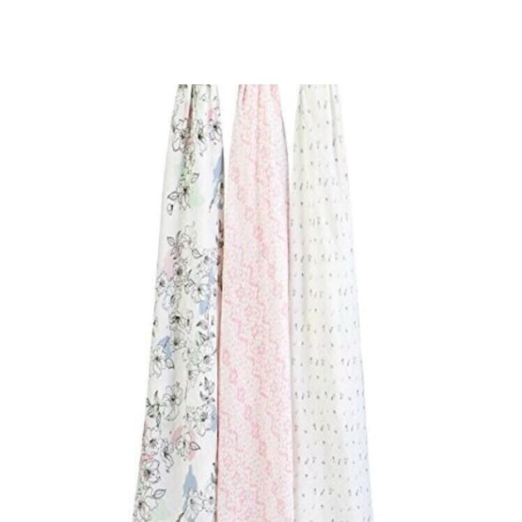 美國 aden+anais 有機棉包巾 嬰兒棉紗包巾3入禮盒組
