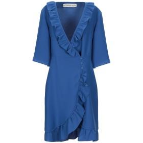 《期間限定セール開催中!》SHIRTAPORTER レディース ミニワンピース&ドレス ブルー 38 ポリエステル 100%