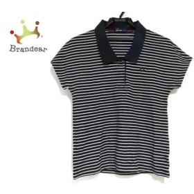 フレッドペリー FRED PERRY 半袖ポロシャツ サイズ10 L レディース 美品 ネイビー×白 ボーダー 新着 20190903