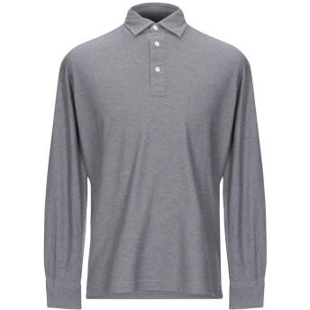 《期間限定セール開催中!》GIAMPAOLO メンズ ポロシャツ 鉛色 L コットン 100%