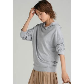 LIPSTAR 抜け襟五分袖カットソー Tシャツ・カットソー,ライトグレー