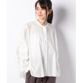 (MARcourt/マーコート)【mizuiro ind】back gathered shirt/レディース OFFWHITE
