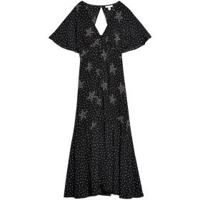 《期間限定セール開催中!》TOPSHOP レディース ロングワンピース&ドレス ブラック 6 レーヨン 100% STAR BUTTON ANGEL SLEEVE DRESS