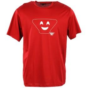 《セール開催中》EMPORIO ARMANI メンズ T シャツ 赤茶色 XXL コットン 100%