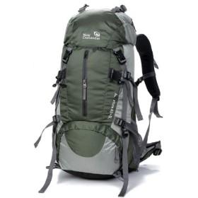 (アウトランダー)OUTLANDER レインカバー付き登山用リュック 50L グリーン