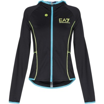 《9/20まで! 限定セール開催中》EA7 レディース スウェットシャツ ブラック XXS ポリエステル 88% / ポリウレタン 12%