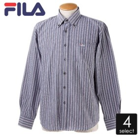 FILAT/Cオックス ストライプボタンダウンシャツ メンズ