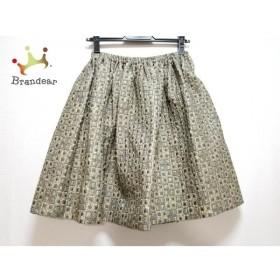 ミュウミュウ miumiu スカート サイズ40 M レディース 美品 グレー×ゴールド 新着 20190903