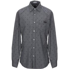 《セール開催中》RO ROGER'S メンズ シャツ 鉛色 L ポリエステル 65% / コットン 35%