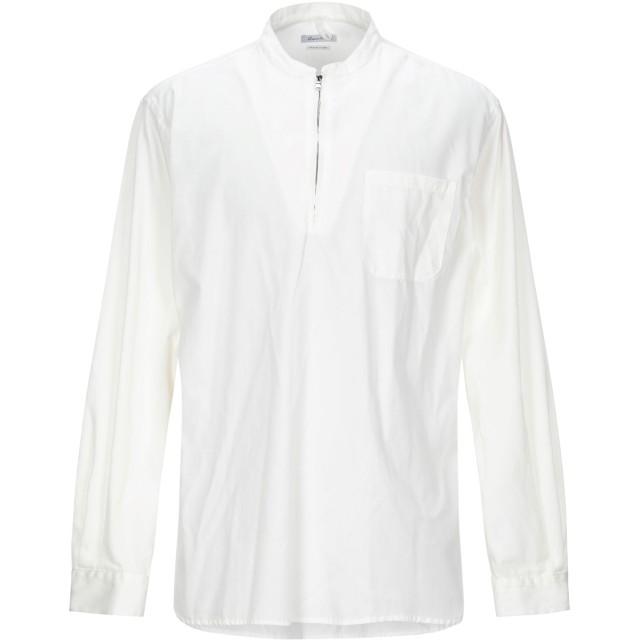 《セール開催中》BERNA メンズ シャツ ホワイト M ポリエステル 65% / コットン 35%
