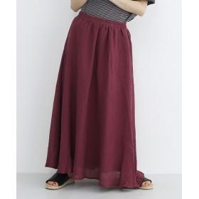 メルロー リネン混楊柳フレアスカート レディース ピンク FREE 【merlot】