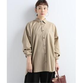 JOURNAL STANDARD 【08 SIRCUS/08サーカス】 Cotton broad asymmetric shirt:シャツ ベージュ L