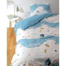 丸眞 寝具カバーセット MOOMIN ムーミン シングルサイズ ルミレイッキ ブルー 1465002700