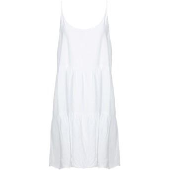 《セール開催中》VANESSA SCOTT レディース ミニワンピース&ドレス ホワイト S 麻 100%