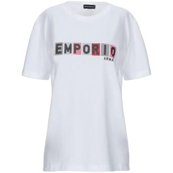 《セール開催中》EMPORIO ARMANI レディース T シャツ ホワイト 40 コットン 100%
