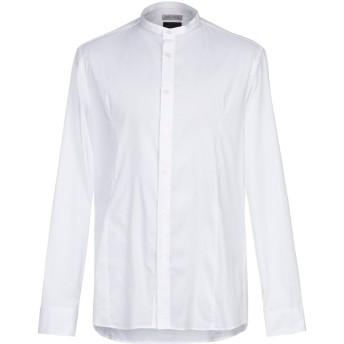 《9/20まで! 限定セール開催中》DANIELE ALESSANDRINI HOMME メンズ シャツ ホワイト 43 コットン 97% / ポリウレタン 3%