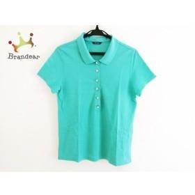 アクアスキュータム Aquascutum 半袖ポロシャツ サイズ13 L レディース エメラルドグリーン 新着 20190903