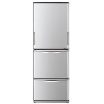 シャープ350L 3ドアノンフロン冷蔵庫どっちもドアシルバーSJW352ES
