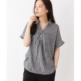 SHOO・LA・RUE/Mrs.(シューラルー/ミセス) スキッパーフロントタックシャツ