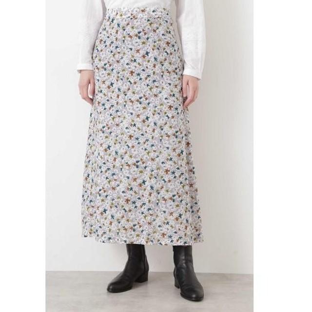 HUMAN WOMAN / ヒューマンウーマン キュプラシルクローンプリントスカート