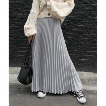 プリーツスカート - CORNERS ジョーゼットプリーツロングスカート スカート ロングスカート プリーツスカート プリーツ 春 ボトム レディース ワンピ