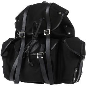 《期間限定セール開催中!》DSQUARED2 メンズ バックパック&ヒップバッグ ブラック 紡績繊維 革