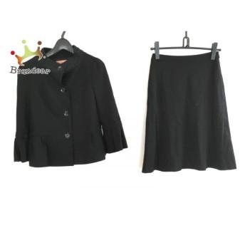 スーナウーナ SunaUna スカートスーツ サイズ38 M レディース 黒 新着 20190903