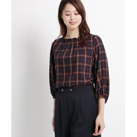 <スーナウーナ/SUNAUNA> シーツイルチェックシャツ(2001573221) アオ 【三越・伊勢丹/公式】
