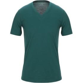 《期間限定セール開催中!》ARMANI EXCHANGE メンズ T シャツ ダークグリーン XS コットン 100%