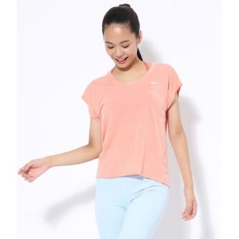 ナージー/【ナイキ】Short-Sleeve Yoga Top/ピンク/L