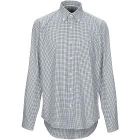 《期間限定セール開催中!》WEBB & SCOTT CO. メンズ シャツ グリーン 38 コットン 100%