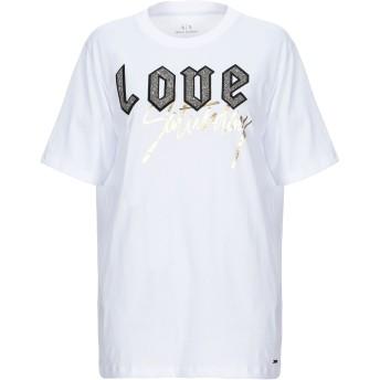 《9/20まで! 限定セール開催中》ARMANI EXCHANGE レディース T シャツ ホワイト XS コットン 100%