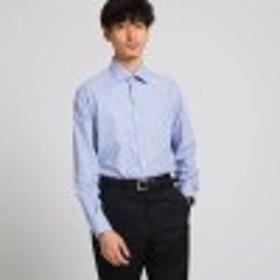 ヘアラインギンガムチェックシャツ