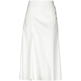 《9/20まで! 限定セール開催中》JOSEPH レディース 7分丈スカート ホワイト 38 コットン 100%