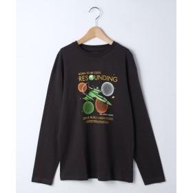 ザ ショップ ティーケー キッズ スペースロングTシャツ レディース ダークグレー(013) 16(160cm) 【THE SHOP TK(KIDS)】