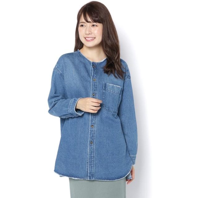 CIAOPANIC(チャオパニック) レディース リメイクデニムシャツジャケット ブルー