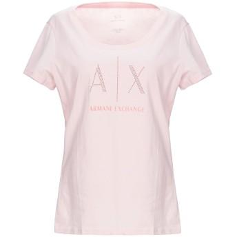 《9/20まで! 限定セール開催中》ARMANI EXCHANGE レディース T シャツ ピンク L コットン 100%