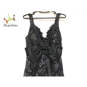 ジーンマクレーン ドレス サイズ9 M レディース 黒×グレー リボン/レース/スパンコール/ビーズ 新着 20190903