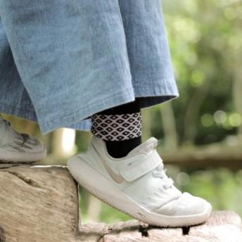 くし綿の楽しさ子供の靴下。キッズソックス 霧雨感