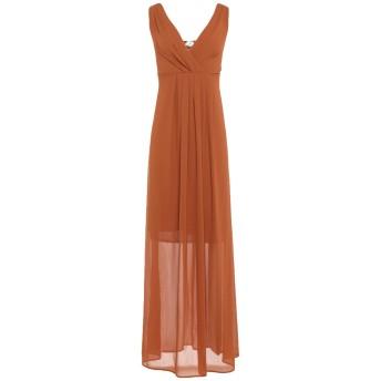 《セール開催中》BERNA レディース ロングワンピース&ドレス ブラウン XS ポリエステル 100%