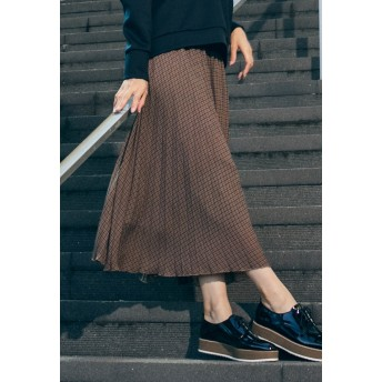 LAUTREAMONT 【雑誌掲載】パイソン・ガンクラ プリーツスカート その他 スカート,ブラウン系その他