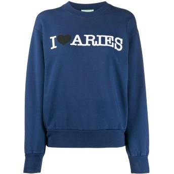 Aries プリント スウェットシャツ - ブルー
