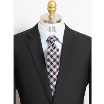 【TAKA-Q:スーツ・ネクタイ】アイスカプセル シルクチェック柄ナローネクタイ7.5cm幅