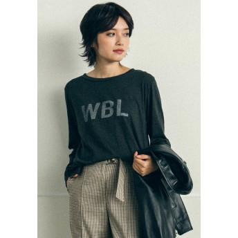 LIPSTAR 【Willful by lipstar】WBLロゴロングTシャツ Tシャツ・カットソー,ライトグレー